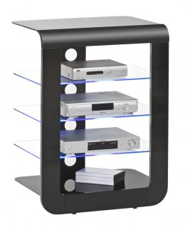 Stojak, stolik TV HiFI, LED RACK, 60 cm, czarny 16464742